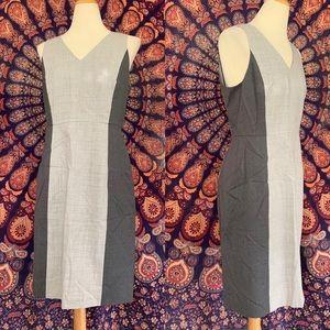 J Crew Sample gray color block professional dress